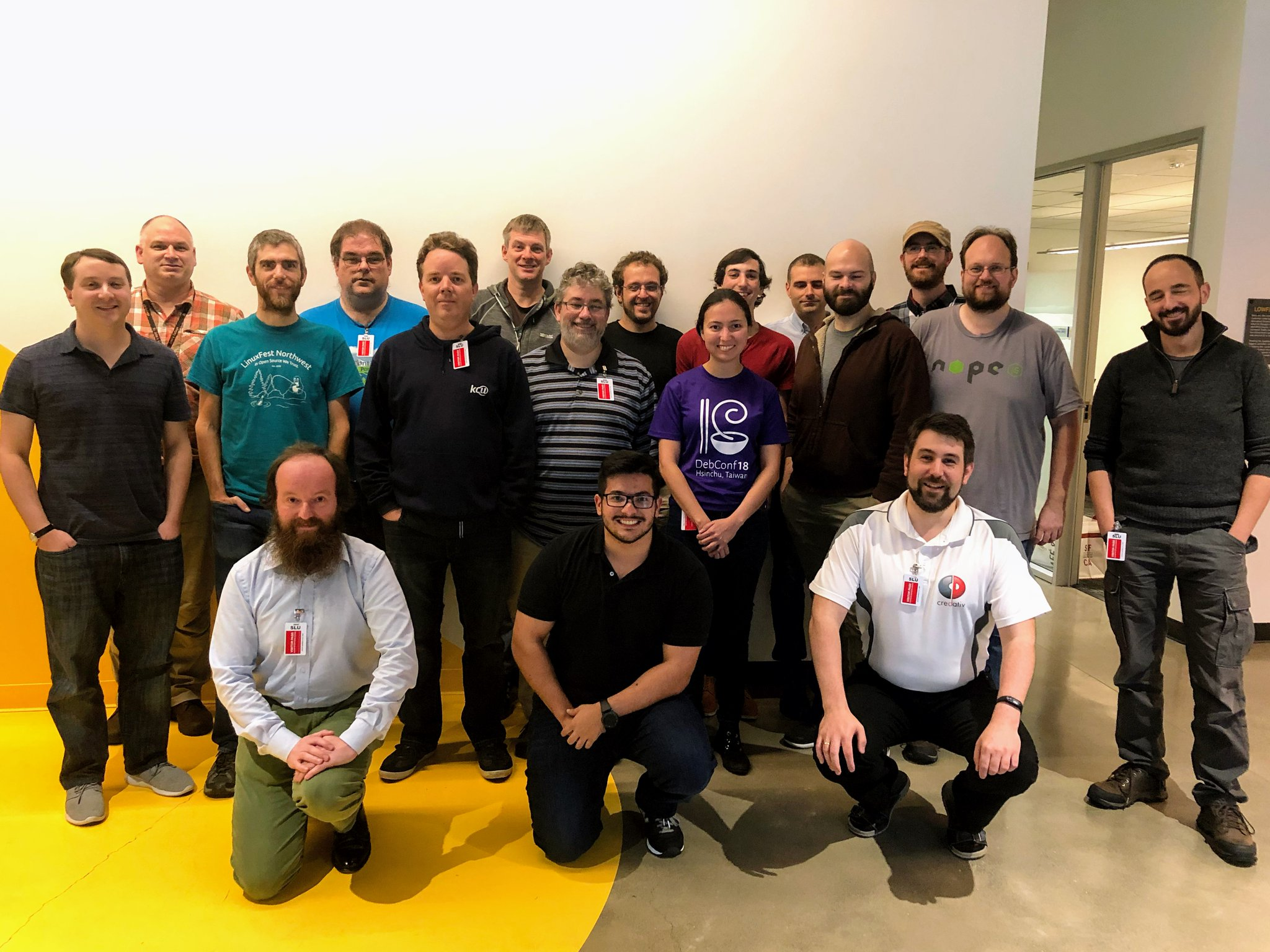 Group photo of the participants in the Cloud Team Sprint