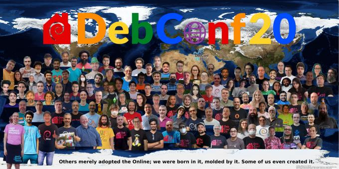 DebConf20 group photo - click to enlarge